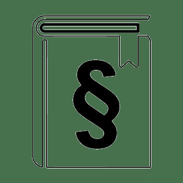 Buch farblos mit Paragraf