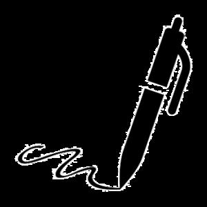 Symbol - Stift mit Schriftzug