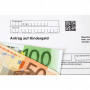Geldscheine auf Antrag auf Kindergeld