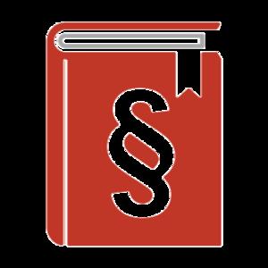 Buch rot mit Paragraf