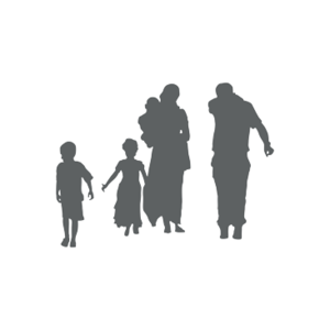 schemenhafte Familiengruppe