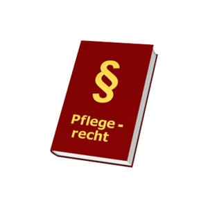 Pflegerecht - rotes Buch mit Paragrafenzeichen