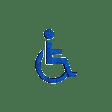 Rollstuhlfaher - blaues Symbol