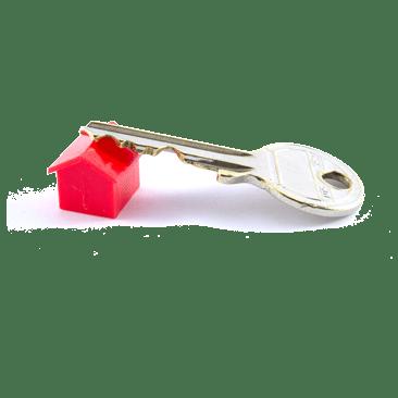 Schlüssel auf Haus