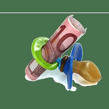 Schnulla mit Geldschein