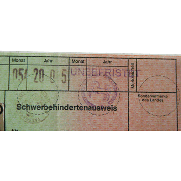 Schwerbehindertenausweis