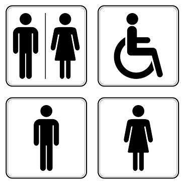 Symbole Schwerbehinderteneigenschaft
