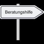 Richtungsschild Beratungshilfe